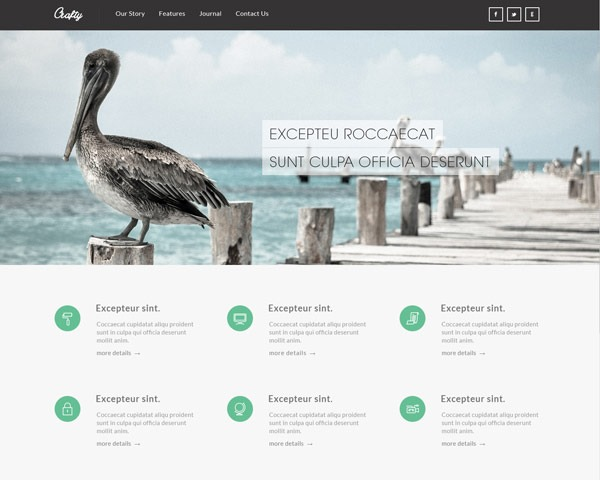 crafty 50 best free html responsive templates