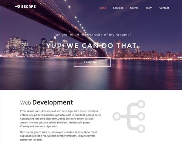 escape 50 best free html responsive templates
