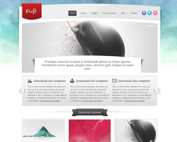 kroft thumb 50 best free html responsive templates