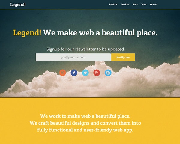 legend thumb 50 best free html responsive templates