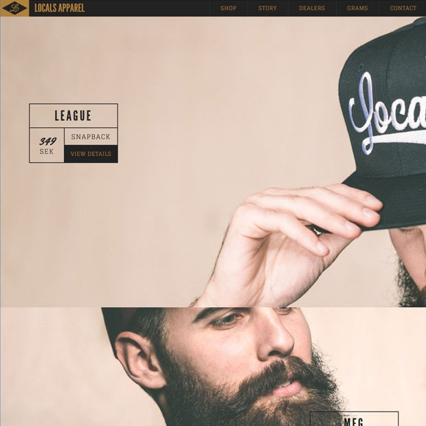 local appral thumb 50 Mind blowing examples of parallax website designs