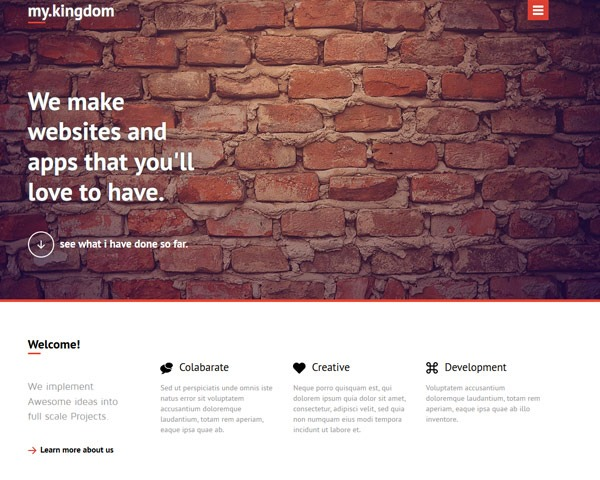 my kingdom thumb 50 best free html responsive templates