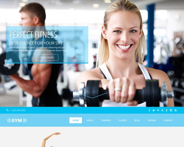 pefect fitness thumb 50 best free html responsive templates