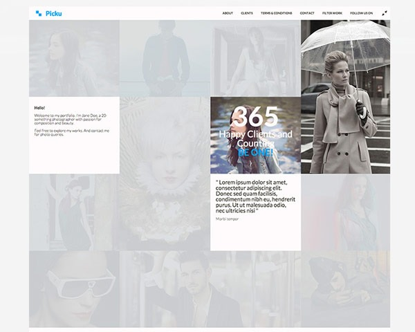 piku thumb 50 best free html responsive templates