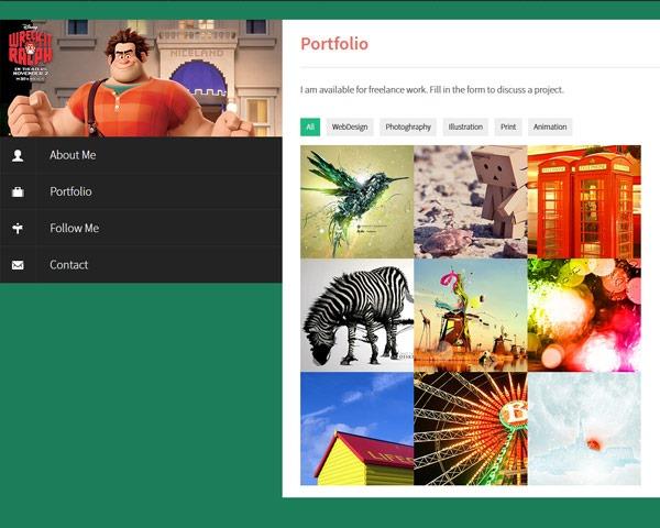 flat responsive portfolio website portfolio