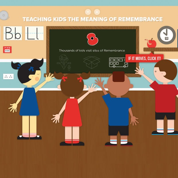 remberance day 50 Mind blowing examples of parallax website designs
