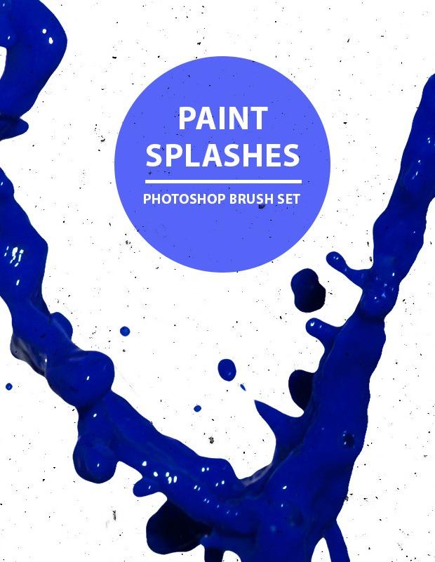 paint splashes thumb Paint splashes free Photoshop brush set