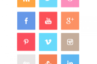 simple-squared-flat-social-icon-set