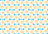 yellow-and-blue-handrawn-petal-pattern