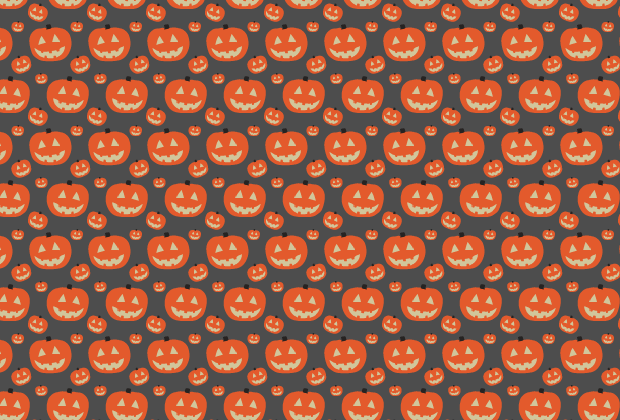 Simple cute Halloween seamless vector pattern | Creative Nerds