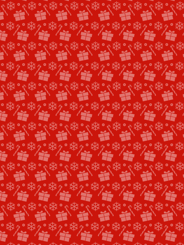 dark red Christmas presents and candy free seamless vector pattern