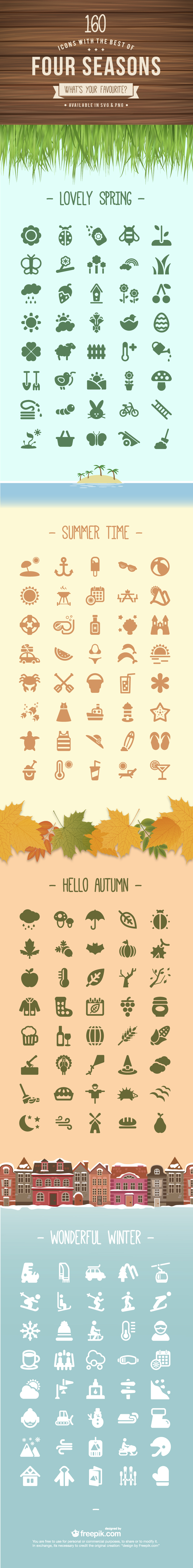 4Seasons 01 160 free icons with the best of each season