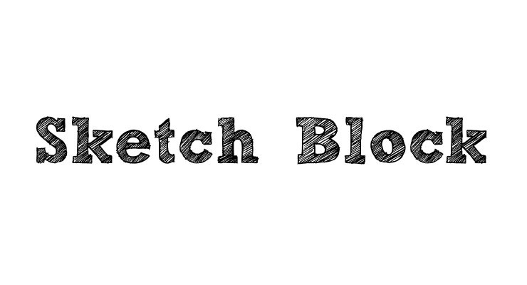 sketch block 20 best hand drawn free fonts