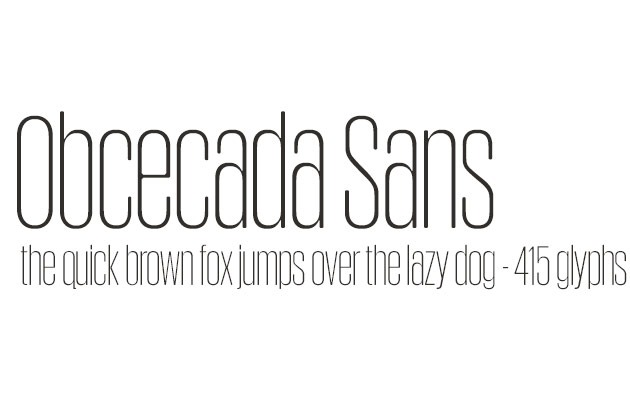 obsecodo sans 20 fresh free fonts created in 2015