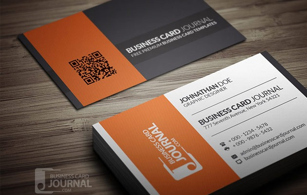 25 free photoshop business card templates creative nerds contrasting modern corporate business card template contrast business card reheart Images