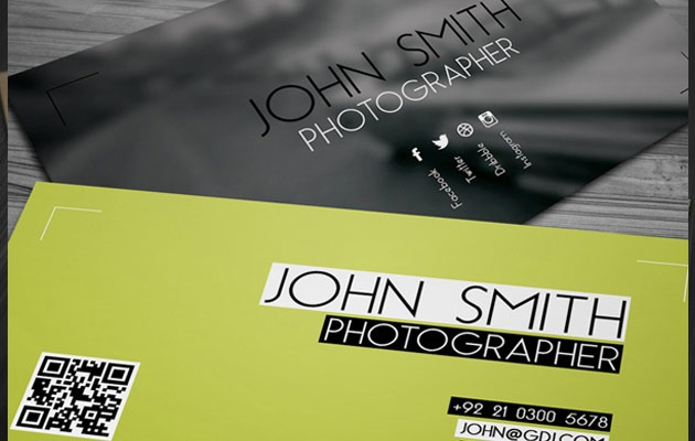 25 free photoshop business card templates creative nerds free photographer business card accmission Gallery