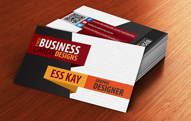 Creative Textured Business Card Design
