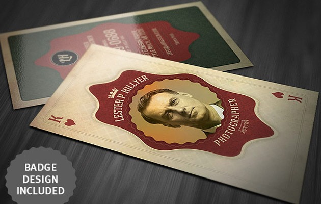 25 free photoshop business card templates creative nerds vintage playing card business card vintage business card wajeb Images