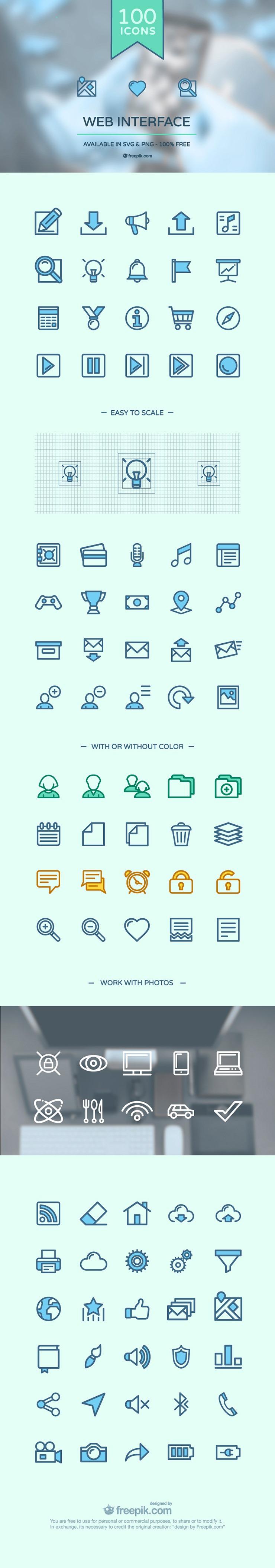 100 web interface icons thumb 1000+ bundle of amazing free design resources