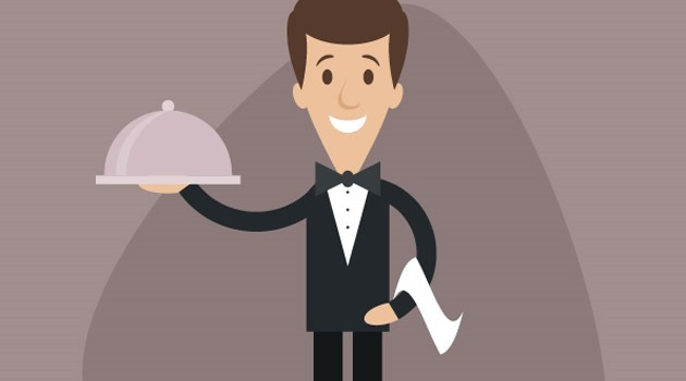 waiter illustration 25 Fresh new illustrator tutorials from 2015