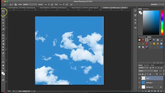 clound photoshop brush1 How to create a cloud Photoshop brush