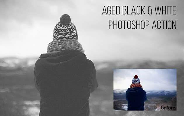 black and white 100 Must download free Photoshop actions (And everything else you should know)