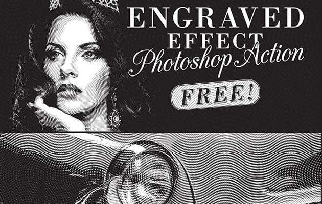 engraved photoshop actions 15 fresh must download Photoshop actions