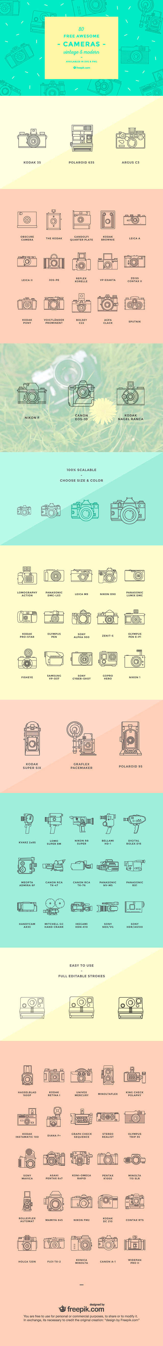 camera icon set 80 free awesome modern and vintage camera vector icons
