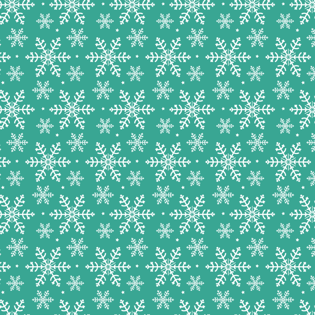 green-snow-flake-pattern
