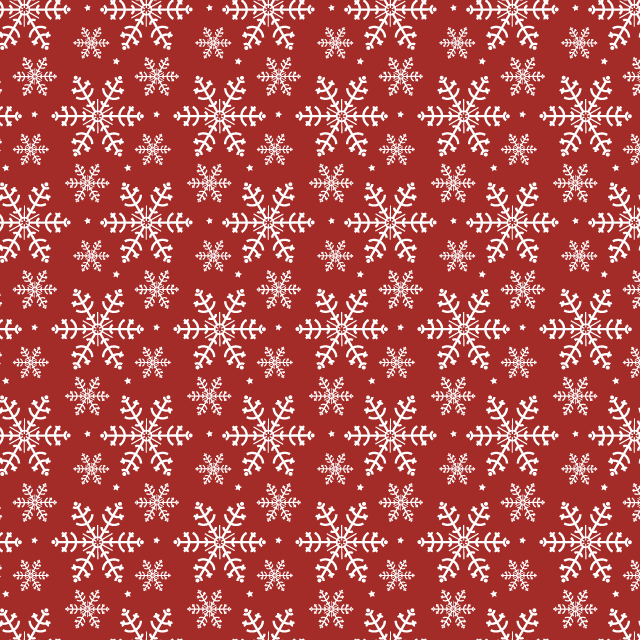 red-snowflake-pattern
