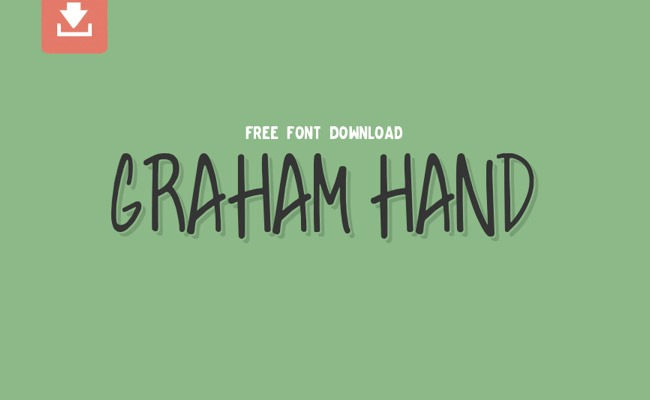 graham hand 30 Creative and unique free fonts to use in your designs
