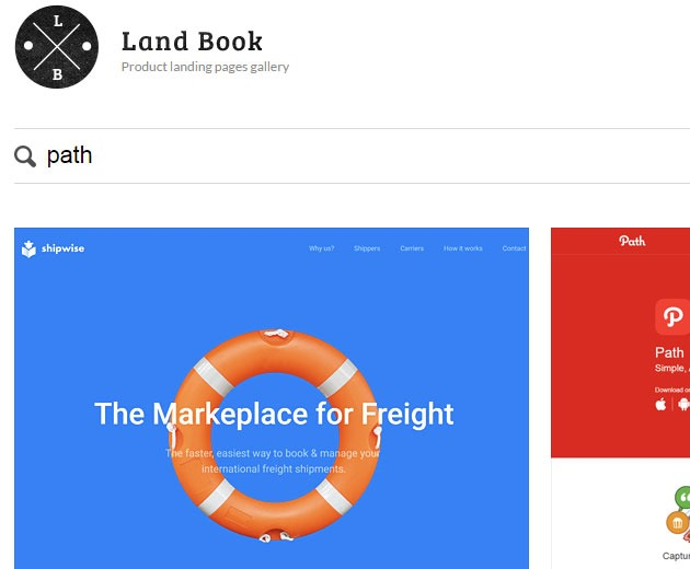 landbook 10 must visit web galleries for web design inspiration
