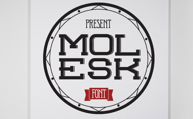 molesk 30 Creative and unique free fonts to use in your designs