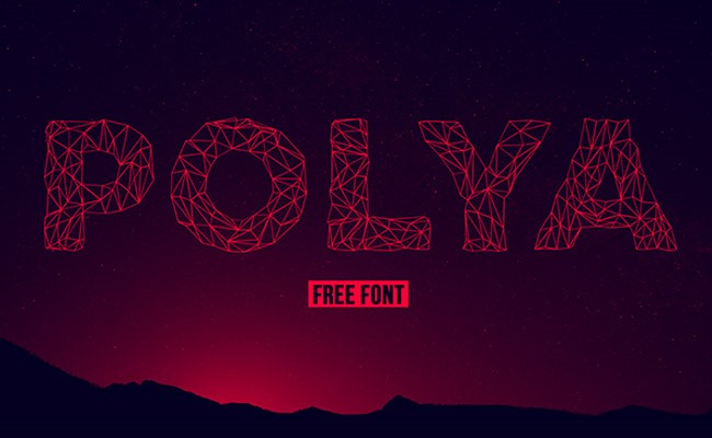 polya 30 Creative and unique free fonts to use in your designs