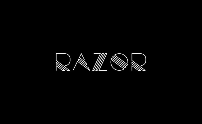 razor 30 Creative and unique free fonts to use in your designs