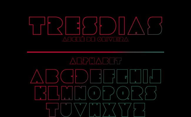 tresdiaz 30 Creative and unique free fonts to use in your designs