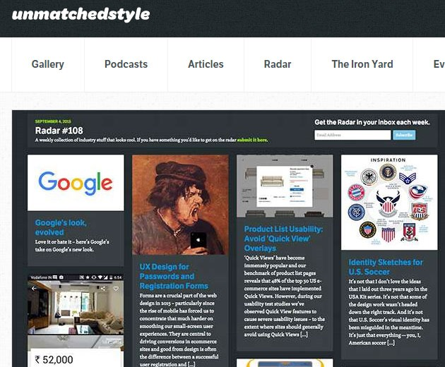 unmatched style 10 must visit web galleries for web design inspiration