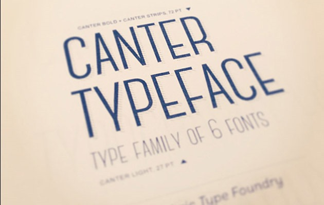 canter 40 Best free fonts from 2015