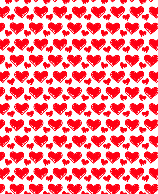 hand dooled pattern Hand doodled free heart seamless vector pattern