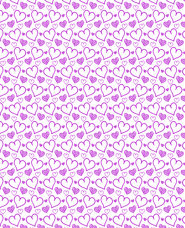 ligt  Hand sketched free heart seamless vector pattern