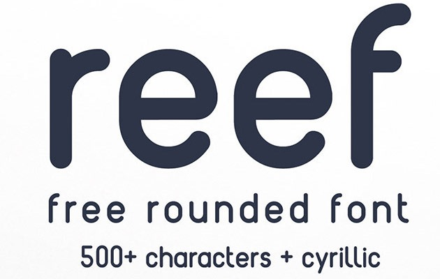 reef 40 Best free fonts from 2015
