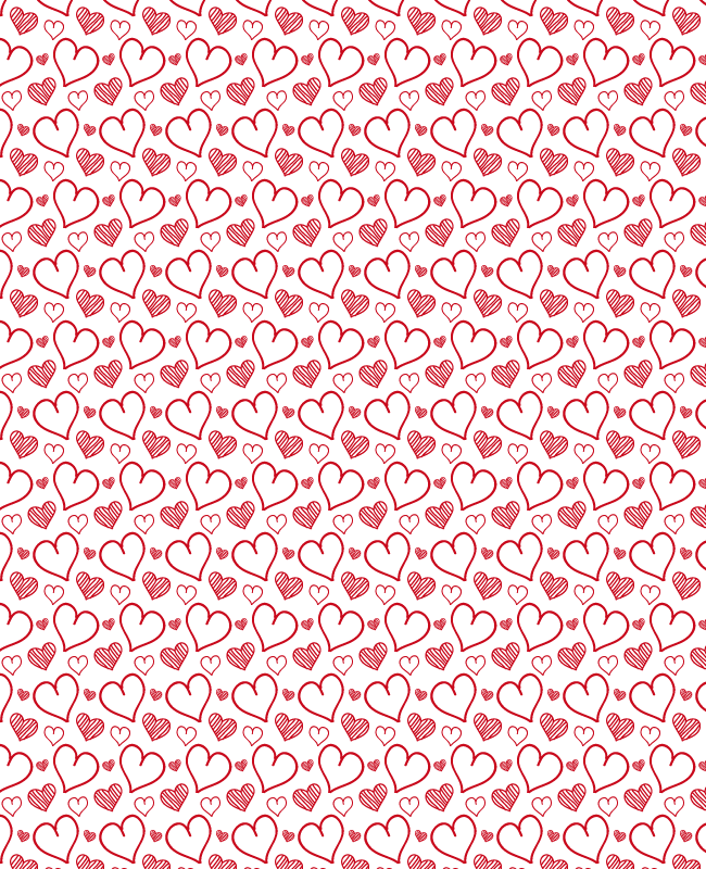 rehand sketched heart seamless pattern Hand sketched free heart seamless vector pattern