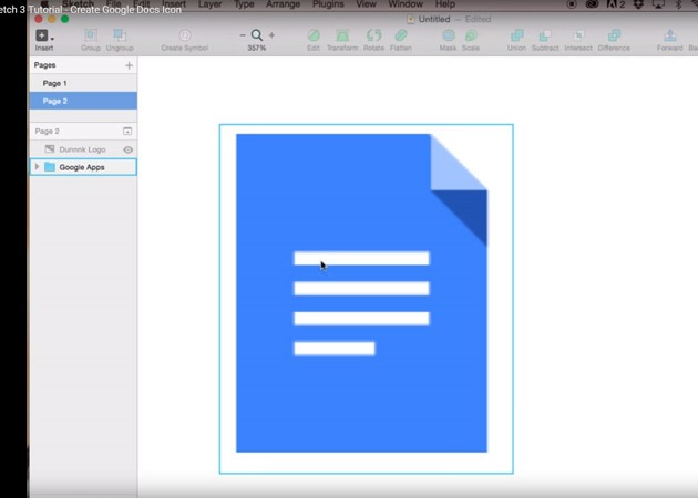 google docs icon 25 Tutorials for learning Sketch