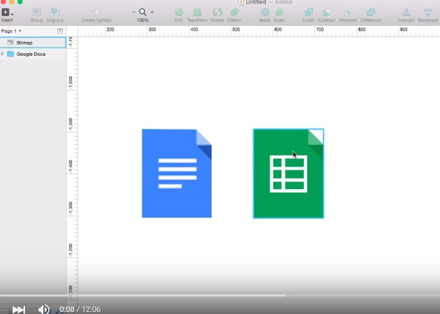 google sheets icon 25 Tutorials for learning Sketch