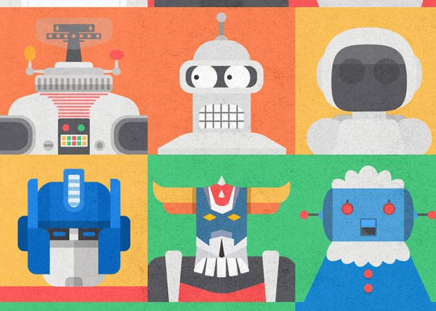 robot illustration 25 Tutorials for learning Sketch