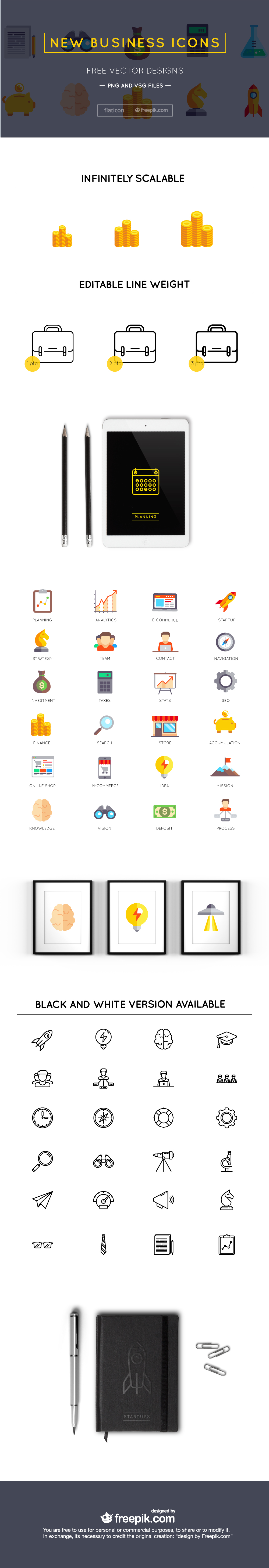 Cover Startups new business 1 36 Free business icons set in Vector & PNG