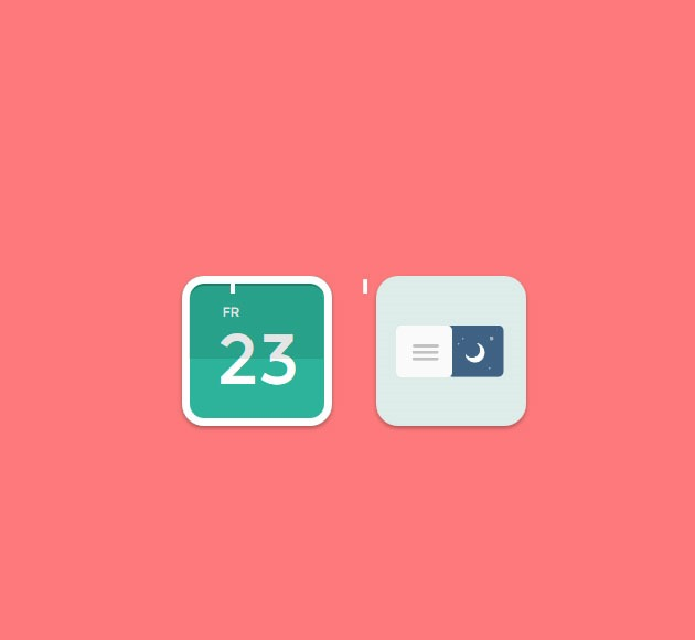 date icons 20 free CSS icon sets for Web Designers