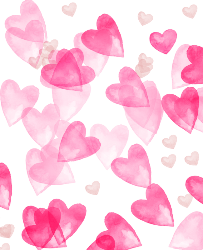 heart photoshop brush Scattered heart watercolor free Photoshop brush set