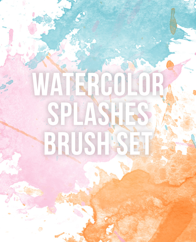 watercolorpaintsplashes Watercolor splashes free Photoshop brush set