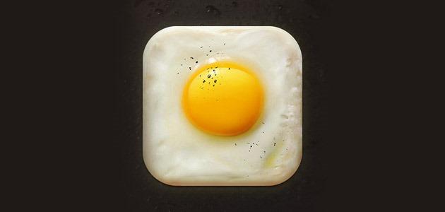fried egg icon 25 Amazing IOS icon designs